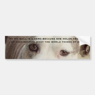 Pit Bull Bumpersticker Bumper Sticker