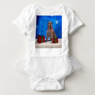 Pit-Bull Christmas Baby Bodysuit