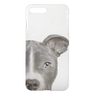 Pit bull, clear iPhone Case, original by miart iPhone 8 Plus/7 Plus Case