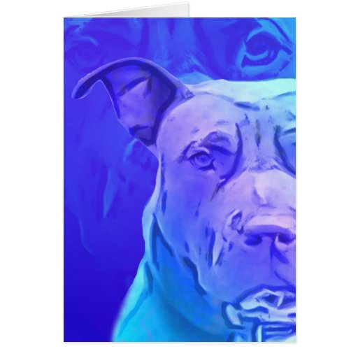Pit Bull Contemporary Art Cards
