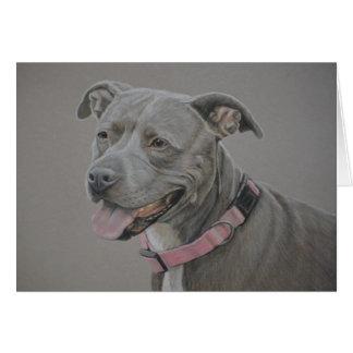 Pit Bull Dog Art Greeting Card