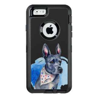 Pit Bull Dog Blue Watercolor Painting OtterBox iPhone 6/6s Case