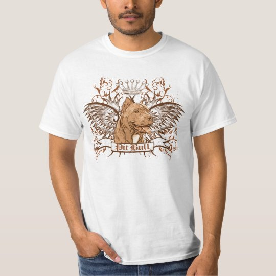 Pit Bull Dog Crest & Wings T-Shirt