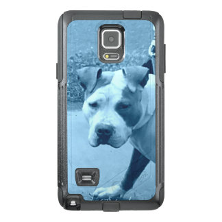 Pit Bull Dog in Blue OtterBox Samsung Note 4 Case