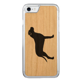 Pit Bull Dog Silhouette Carved iPhone 8/7 Case