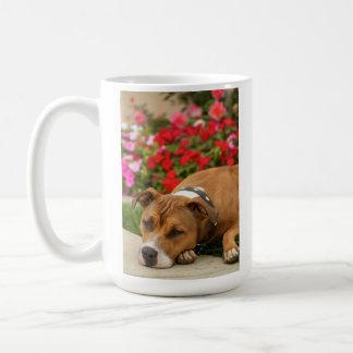 Pit Bull Flower Mug