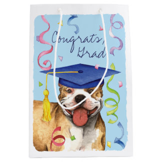 Pit Bull Graduate Medium Gift Bag