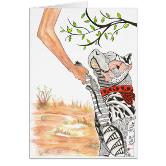 Pit Bull Greeting Card (You can Customize)