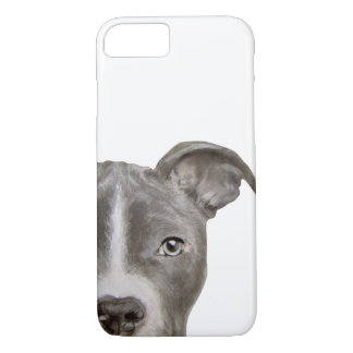 pit bull grey, original painting and design iPhone 8/7 case