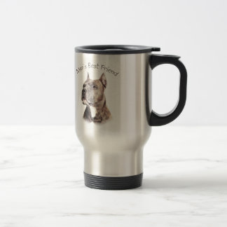 Pit Bull Man's Best Friend Travel Mug