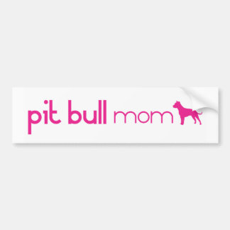 Pit Bull Mom Bumper Sticker