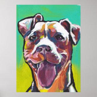 pit bull pitbull fun pop art poster