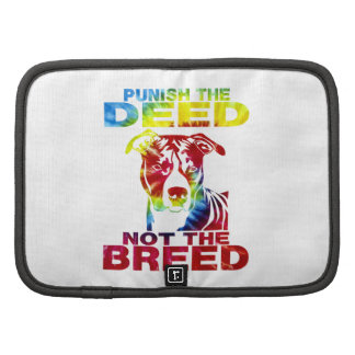 PIT BULL PUNISH THE DEED NOT THE BREED td3B Folio Planner