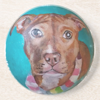 Pit Bull pup Beverage Coasters
