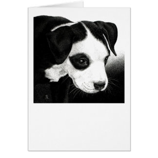 """Pit Bull Pup Card - """"Pirate Girl"""""""