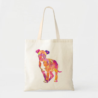 Pit Bull Puppy Pop Art Watercolor Tote