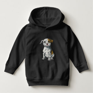 Pit Bull Puppy Sketch Drawing Hoodie