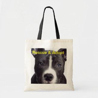 Pit Bull, Rescue & Adopt Tote Bag