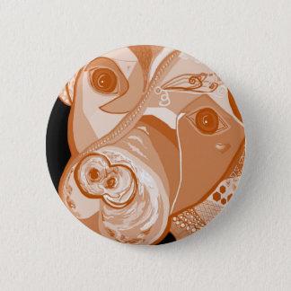 Pit Bull Sepia Tones 2 Inch Round Button