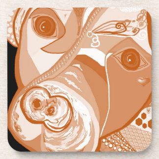 Pit Bull Sepia Tones Coaster
