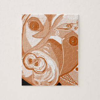 Pit Bull Sepia Tones Jigsaw Puzzle