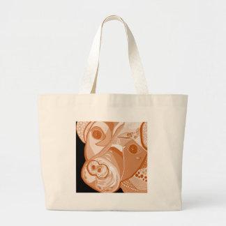 Pit Bull Sepia Tones Large Tote Bag