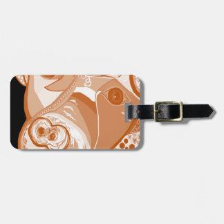 Pit Bull Sepia Tones Luggage Tag