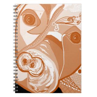 Pit Bull Sepia Tones Notebook