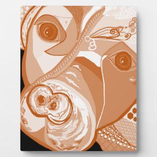 Pit Bull Sepia Tones Plaque