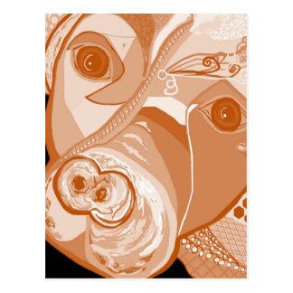 Pit Bull Sepia Tones Postcard