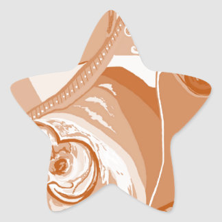 Pit Bull Sepia Tones Star Sticker