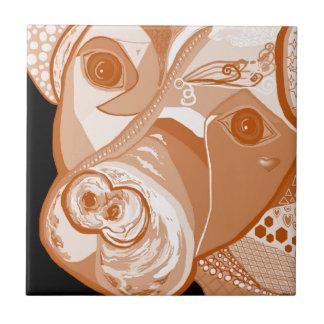 Pit Bull Sepia Tones Tile