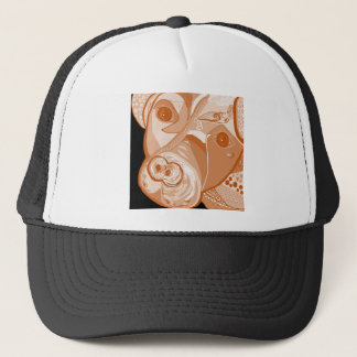 Pit Bull Sepia Tones Trucker Hat