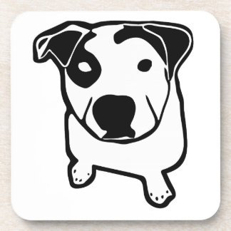 Pit Bull T-Bone Graphic Beverage Coaster