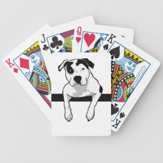 Pit Bull T-Bone Graphic Bicycle Playing Cards