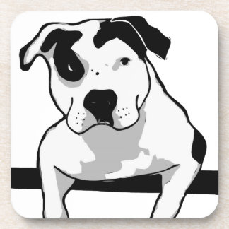 Pit Bull T-Bone Graphic Coaster