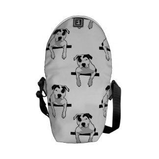 Pit Bull T-Bone Graphic Courier Bags