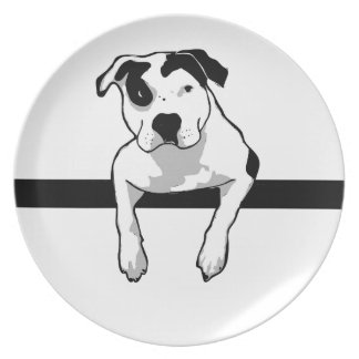 Pit Bull T-Bone Graphic Dinner Plates