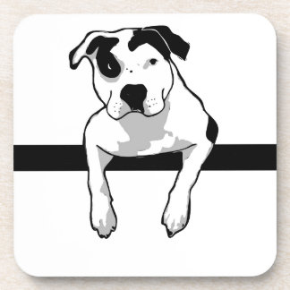 Pit Bull T-Bone Graphic Drink Coasters