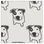 Pit Bull T-Bone Graphic Fabric