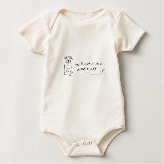 pit bull terrier baby bodysuit