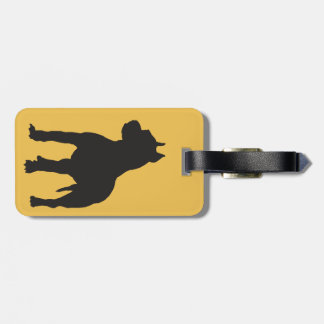 Pit Bull Terrier Black Silhouette Luggage Tag