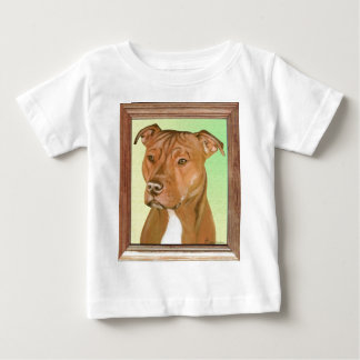 Pit Bull Terrier Painting Baby T-Shirt