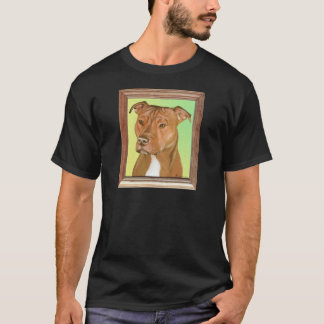 Pit Bull Terrier Painting T-Shirt