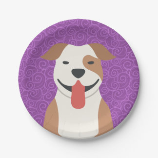 Pit Bull Terrier Paper Plates 7 Inch Paper Plate