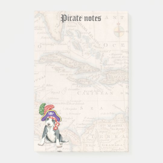 Pit Bull Terrier Pirate Post-it Notes