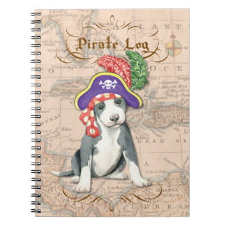 Pit Bull Terrier Pirate Spiral Note Book