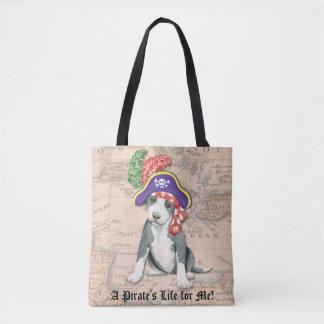 Pit Bull Terrier Pirate Tote Bag