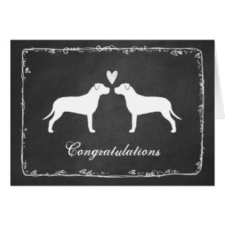 Pit Bull Terriers Wedding Congratulations Card