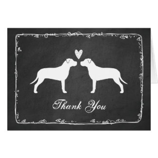 Pit Bull Terriers Wedding Thank You Card